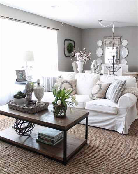 Ideas For Living Room With White Furniture by 12th And White Makeover Up Our House Six Months Later