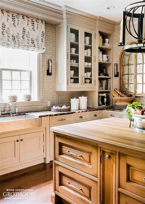 white oak kitchen island top  wellesley ma