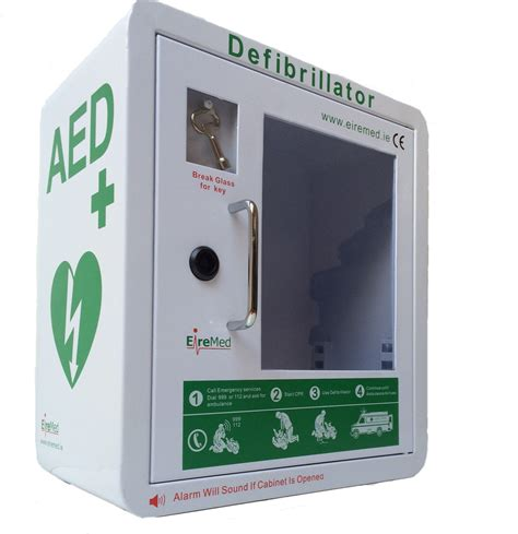 Defibrillator Cabinet by Aed Cabinet With Alarm Eiremed Ie