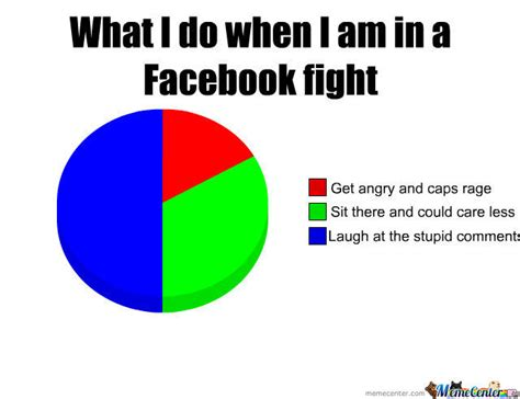 How To Put A Meme On Facebook Comments - what i do when i m in a facebook fight by anitathegamer meme center