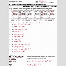 Electron Configuration Worksheet Answers Part A  Worksheets For   Homework Science