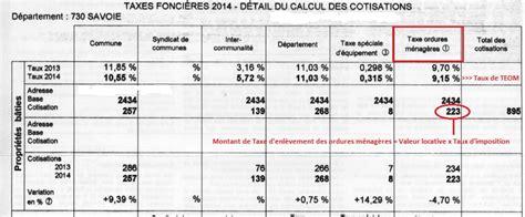 montant taxe ordure menagere teom taxe d enl 232 vement des ordures m 233 nag 232 res sictom du guiers