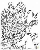 Bush Burning Moses Coloring Pages Printable Shrub Supercoloring Bible Template Sheets Plant Sees Drawing Sunday Getcolorings Munchkins Activity Colouring Craft sketch template