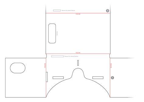 vr cardboard template strontium cardboard vr