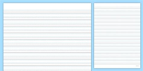 ks blank handwriting sheets writing primary resources