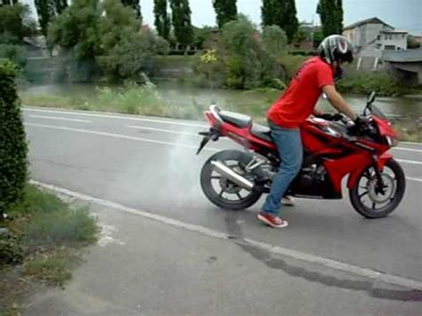honda cbr    burnout youtube
