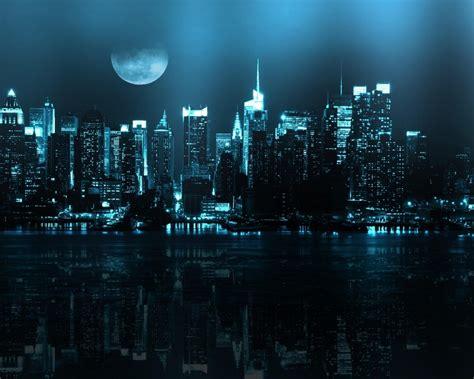 york blue neon lighting   city night view hd wallpaper wallpaperscom