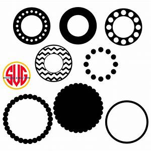 circle frames for monograms svg dxf eps svgmonograms With circle monogram