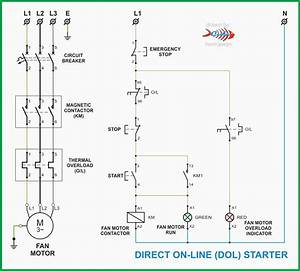 Dol Starter Panel Wiring Diagram Save Start Stop And Motor