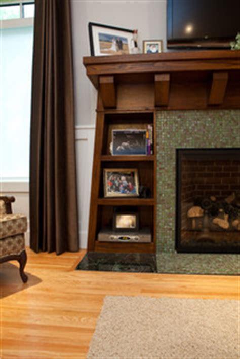built ins  fireplace craftsman living room
