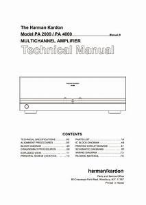 Harman Kardon Pa 4000  Serv Man4  Service Manual  U2014 View