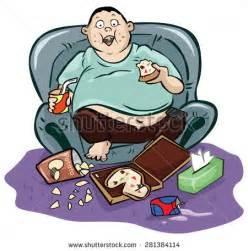 Fat Lazy Person Clip Art