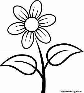 Fleurs Dessin Facile Coloriage Fleur Facile 3 Dessin