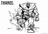 Thanos Coloring Pages Printable Fanart Adults sketch template