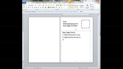 How To Create A Template In Word Creating A Postcard In Word