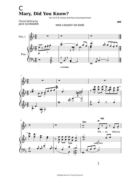 Piano sheet music by christmas carol. Mary Did You Know Sheet music for Piano, Voice | Download free in PDF or MIDI | Musescore.com