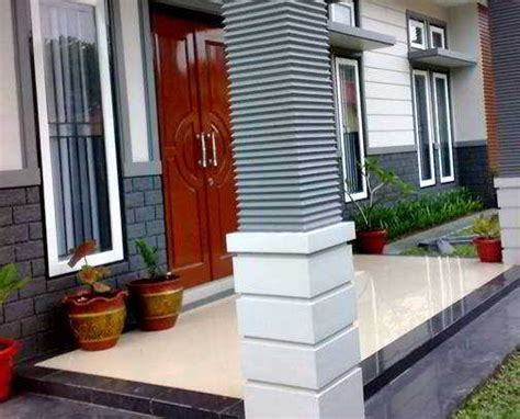 model desain tiang teras rumah minimalis klasik