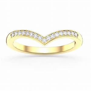unity wishbone diamond 18ct yellow gold wedding ringjian With unity wedding rings