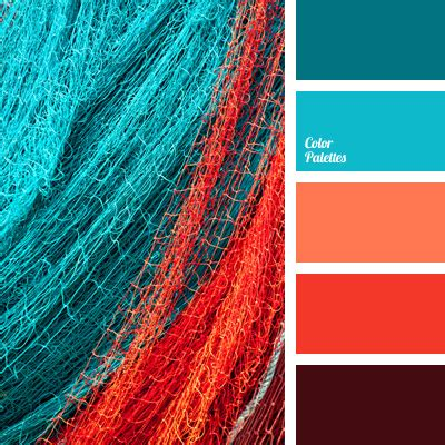 coral color scheme blue and coral color palette ideas