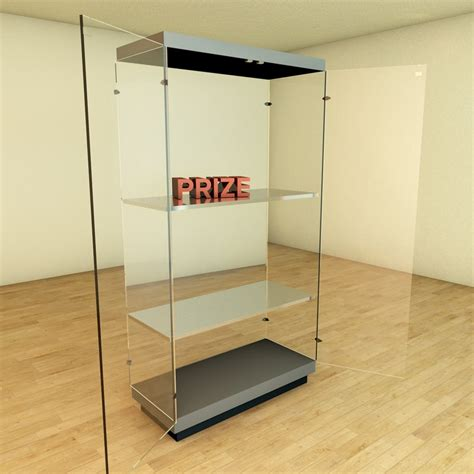 scale model display cabinet glass showcase display cabinet architecture 3d model