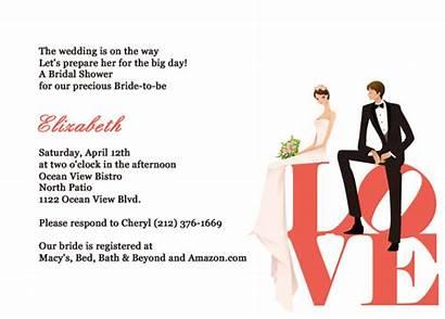 Shower Bridal Templates Invite Invitation Invitations Template