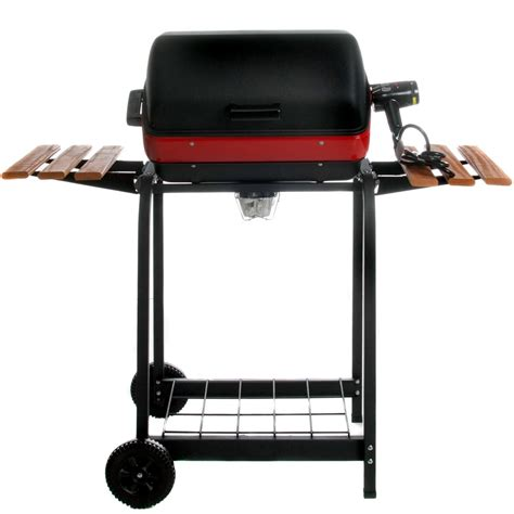 grill side table outdoor meco electric grill on cart with fold down side tables