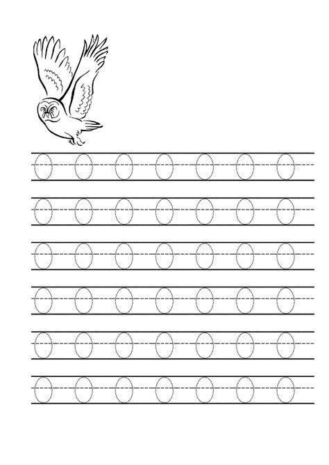 tracing letter o worksheets activity shelter
