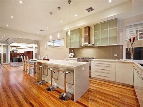 island bench kitchen designs modern island kitchen design using floorboards kitchen photo 252762