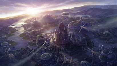 Sci Landscape Fi Background Wallpapers Landscapes Cool