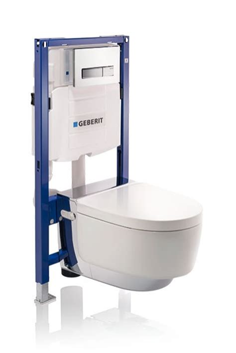 installation of a shower toilet in the bathroom geberit