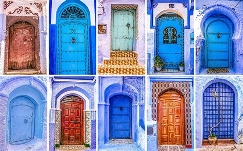 colorful doors  morocco