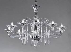 Murano Glass Chandelier Modern : crystal clear modern murano chandelier dml6012k10 murano imports ~ Sanjose-hotels-ca.com Haus und Dekorationen