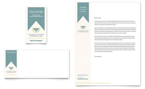 law firm business card letterhead template design