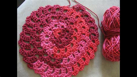 flower spiral motif pattern crochet tutorial youtube