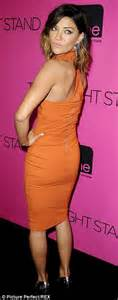 Jessica Szohr Stuns In Orange Cut Out Dress To Promote Two