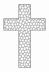Coloring Pages Printable Cross Crosses sketch template