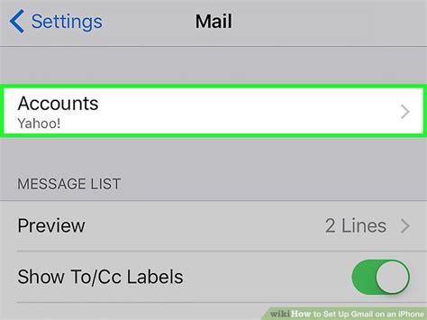 gmail settings for iphone how to set up gmail on an iphone with pictures wikihow