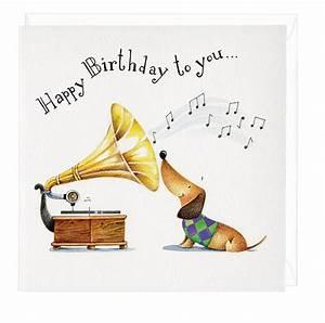 Happy Birthday To You Musical Dachshund Greeting Card ...