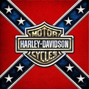 Harley-davidson - 3d Badge Photograph by Serge Averbukh