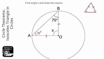 Triangle Circle Isosceles Theorems Maths Circles Grade