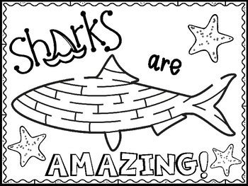 shark coloring pages shark week  purple palmetto tpt