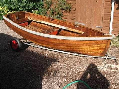 Rowing Boat For Sale Cheshire varnished clinker rowing dinghy brick7 boats