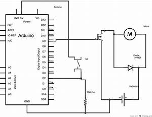 arduino transistormotorcontrol With wiring a switch to arduino