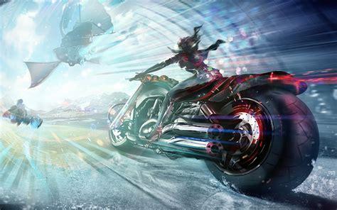 fantasy girl bike hd fantasy girls  wallpapers images