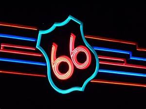 Neon 66 Bridge Albuquerque New Mexico USA Neon