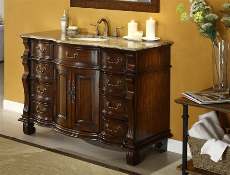 adelina  antique bathroom vanity brown marble countertop