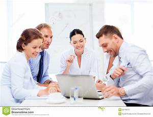 Business Team Having Meeting In fice Stock Image Image