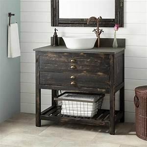 New, Weathered, Wood, Bathroom, Vanity, Plan