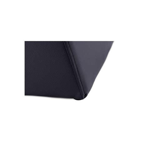 pouf cube simili cuir noir