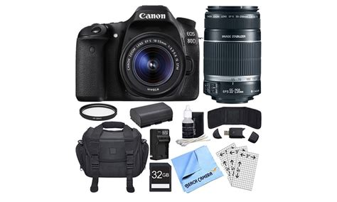 Canon EOS 80D 24.2MP DSLR Camera and Accessory Bundles